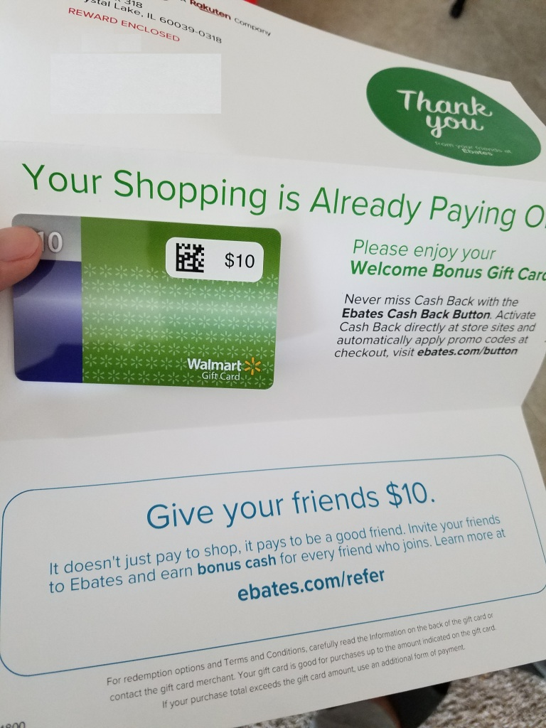 ebates 10dollars reward