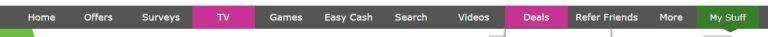 InboxDollars menu bar