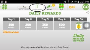Lucktastic daily rewards
