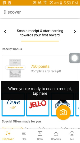 fetch rewards get paid to scan receipt