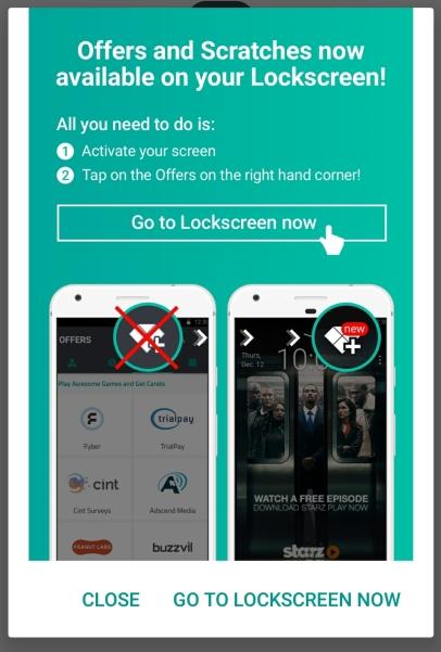 slidejoy offers lockscreen
