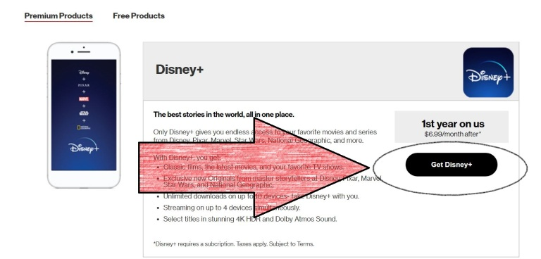 verizon unlimited free disney plus