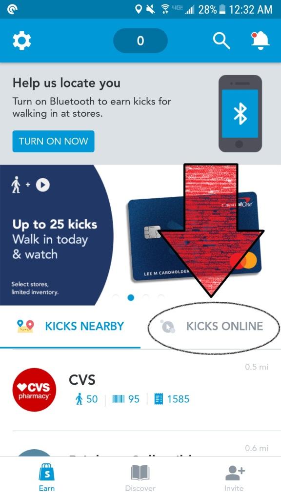 shopkick kicks online