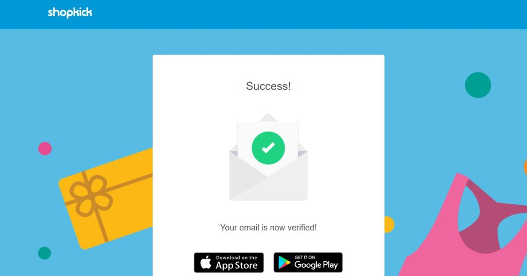 shopkick verified email