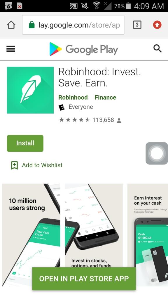 robinhood app install